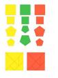 Рудницкая 1 класс. Математика. Разрезной дидактический материал. (В...