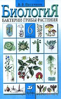 Пасечник. 6 класс. Биология. Бактерии. Грибы. Растения. Учебник.
